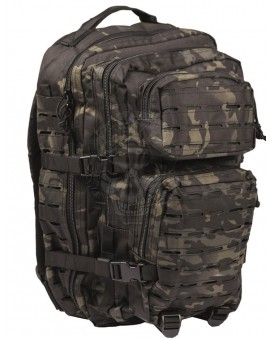 Mochila US Assault Pack LG Laser cut Multitarn-Black Miltec