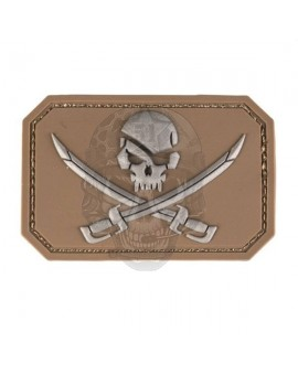 PARCHE PIRATE SKULL TAN