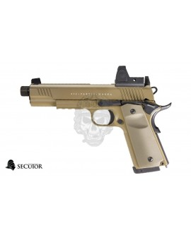 PISTOLA GAS Y CO2 RUDIS MAGNA VII TAN SECUTOR