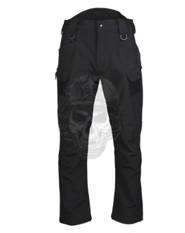 "PANTALON ""ASSAULT"" SOFTSHELL NEGRO MILTEC"